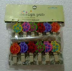 ♛ Shop8:  LADY BUG WOODEN MEMO NOTE CLIP Giveaways Souvenir  | eBay Lady Bug, Giveaways, Bugs, Notes, Crafts, Ebay, Jewelry, Design, Art