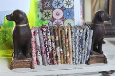 Clever idea for fabric storing and displaying