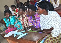 My visit to a school outside Masaka to see girls and women learning about reusable sanitary pads.