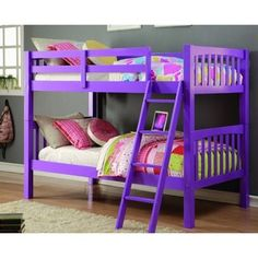 Donco Kids Grapevine Twin Over Twin Grape Finish Bunk Bed - 17882053 - Overstock - Great Deals on Donco Kids Kids' Beds - Mobile