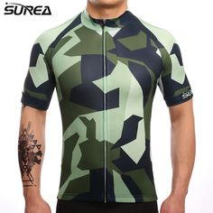 SUREA 2017 Camouflage Cycling Jersey Mtb Bicycle Clothing Bike Wear Clothes Short Sleeve Maillot Quick Dry  Ropa Ciclismo