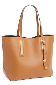 sophisticated leather tote
