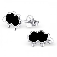 Sterling silver pink sheep stud earrings by Girl Almighty. High quality sterling silver earrings for pierced ears. Ideal for children or adults, perfect gifts. Pink Sheep, Black Sheep, Animal Earrings, Stud Earrings, Beautiful Gift Boxes, Ear Piercings, Sterling Silver Earrings, Cufflinks, Danny