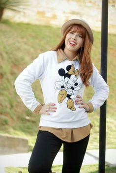 Look Minnie Disney, moletom disney www.fashionmarigoes.blogspot.com.br