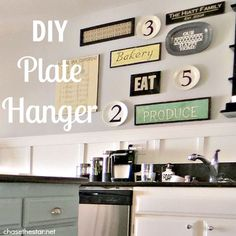So happy I found this simple diy. Was wondering how I was going to hang my plates in the kitchen