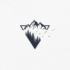 simple tattoos with meaning ; simple tattoos for women ; simple tattoos for women with meaning ; simple tattoos for women unique Tattoo Sketches, Tattoo Drawings, Drawing Sketches, Body Art Tattoos, Hand Tattoos, Montain Tattoo, Berg Tattoo, Natur Tattoos, Mountain Drawing