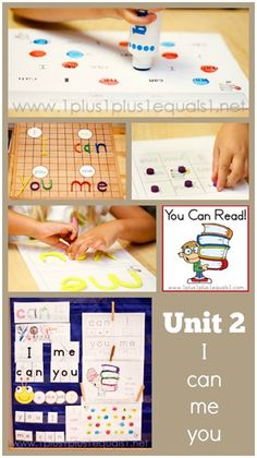 You Can Read Sight Words Unit 2  ~ a peek into what the entire unit looks like in #homeschool #Kindergarten with @1plus1plus1
