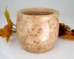 Maple Burl Pot by DebsWoodshop on Etsy, $40.00