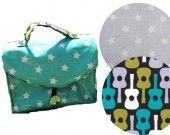 Kit sac à goûter / lunch box gris : Kits, tutoriels Couture par boitamalix