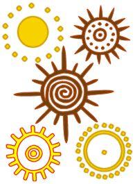 Various sun symbols