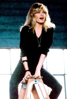 Michelle Pfeiffer as Stephanie Zinone in Grease Grease 2, Taurus, Michelle Pfeiffer, Cinema, High Society, Famous Women, Beautiful Actresses, Pretty Woman, Vintage Photos