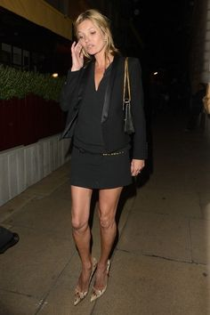 Kate Moss wearing Christian Louboutin Pigalle Python Pumps