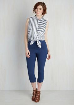 #AdoreWe #ModCloth Bottom - ModCloth Jive Got a Feeling Pants in Navy - AdoreWe.com