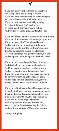 This poem has played such an important part in my life....