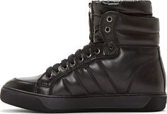 Moncler Black High-Top Puffer Sneakers