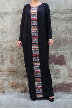 fall black Loose waist Long Robe Bat sleeve dashiki dress middle-east women dress plus size nepal african clothing African Attire, African Fashion Dresses, African Dress, Dress Fashion, Fashion Clothes, Dress Plus Size, Plus Size Maxi Dresses, Bohemia Dress, Comfy Dresses