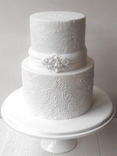 Lace wedding cake #sugarygoodnesscakes