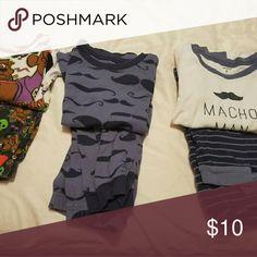 Bundle! 3 pairs of boys 5T jammies Long sleeve, long pant jammie sets Pajamas Pajama Sets