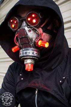 Vermilitron - Cyberpunk Dystopian light up mask by TwoHornsUnited ...