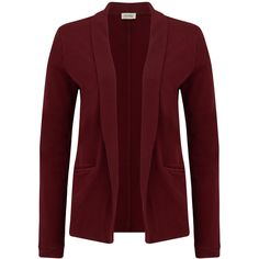 American Vintage Jaguar Cotton Jacket - Acerola (131090 IQD) ❤ liked on Polyvore featuring outerwear, jackets, acerola, long sleeve jacket, long sleeve blazer, blazer jacket, red jacket and cotton blazer