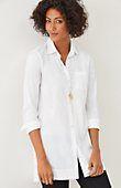 plus size cotton-stretch long tunic | J.Jill