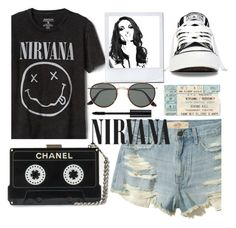 Nirvana by droomie on Polyvore featuring polyvore fashion style Hollister Co. Converse Ray-Ban Gap Whiteley clothing contest black nirvana