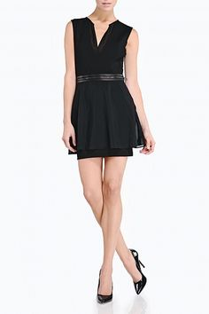 dress with removable peplum skirt by Mackage $395