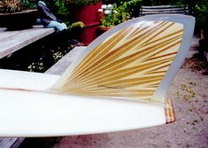 Beautiful fin Johnny Rice Custom Surfboards - Wood Boards