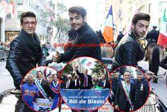 Il Volo's Gianluca Ginoble, Ignazio Boschetto, Piero Barone join Mayor di Blasio, Gov Cuomo and Tony Danza at Columbus Day Parade. Credit: AR Photos