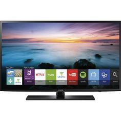 "Might be a really smart buy for the living room////Samsung - 55"" Class (54.6"" Diag.) - LED - 1080p - Smart - HDTV - Black - Front Zoom"