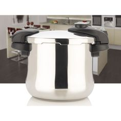 The Fagor Futuro Pressure Cooker model is constructed of 18/10 Stainless Steel and is made in Spain. This pressure cooker model has compact handles for easy storage and is made with two pressure settings HIGH (15psi) and LOW (8psi).