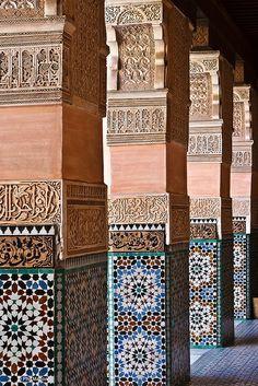 Medresa Ali Ben Youssef, Marrakesh, Morocco. Defying the passage of time. #Moroccan #Art #History #Marrakesh.
