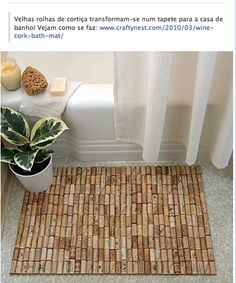 Wine Cork door mat - Would this be a good sign that friends should always bring wine when they come to my house?