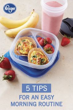 Kroger - 5 Ways to Improve your Morning Routine Protein Breakfast, Make Ahead Breakfast, Breakfast Dishes, Breakfast Recipes, Morning Routine Checklist, Morning Routines, Hiking Food, Food Hacks, Healthy Choices