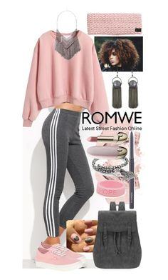 """""""Chill Day"""" by thea-bleasdille ❤ liked on Polyvore featuring Vans, Origins, MAC Cosmetics, Alex and Ani, Guerlain, Pink, hope and darkgrey"""