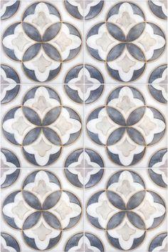 The Mullholland Pattern (Charcoal) shown on Carrara Das auf Carrara gezeigte Mullholland-Muster (Charcoal) 2018 Artisan Stone Tile Designs Floor Patterns, Tile Patterns, Textures Patterns, Wallpaper Free, Motif Art Deco, Art Deco Tiles, Bijoux Art Nouveau, Diy Vintage, House Tiles