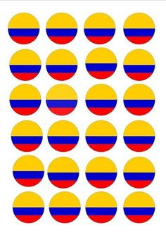 24 X Colombia Colombian Flags Edible Cupcake Toppers Cake Olympics Rice Paper