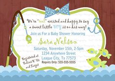Cute fish bait fishing baby shower invitations baby shower when to send baby shower invitations hi everyone are you guys wondering about planning baby shower party but you have no idea when to send the filmwisefo Image collections