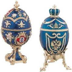 Musical boxes style Faberge eggs.