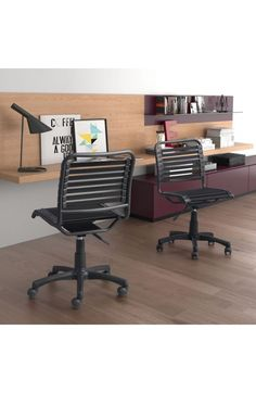 ??? - Officedesk.com - $265 - Modern Black Office Chair with Comfortable Bungee Supports