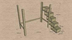 Hochbett: Maße für das Bettgestell und die Treppe