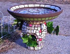 Enchanted China Designs- Mosaic Bird Baths