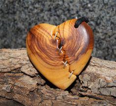 Olive Wood Pendant wood jewelryHeart by OliveWoodJewellery on Etsy, $30.00