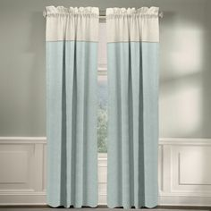 Grand Luxe 100-percent Linen Monterey Rod Pocket Curtain Panel (84 inch Mineral Blue), Size 50 x 84