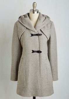 Guten Toggle Coat in Fog - Grey, Solid, Casual, Rustic, Long Sleeve, Fall, Woven, Best, Buttons, Pockets, 70s, Variation, Long, Tis the Season Sale, 3, Winter