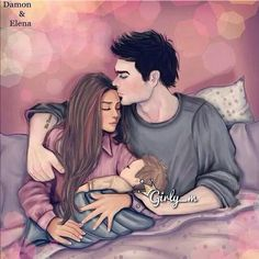 Delena family This is the cutest thing ever, omg.