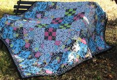 Floral Delilah Quilt Two Quilts in One by EQuiltShop on Etsy Aqua Fabric, Make And Sell, How To Make, Quilt Sizes, Aqua Color, Quilt Bedding, Pincushions, Mild Soap, Fabric Design