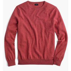 J.Crew Cotton-Cashmere Crewneck Sweater ($50) ❤ liked on Polyvore featuring men's fashion, men's clothing, men's sweaters, j crew mens sweaters, mens crewneck sweaters, mens crew neck sweaters and men's cotton cashmere sweaters