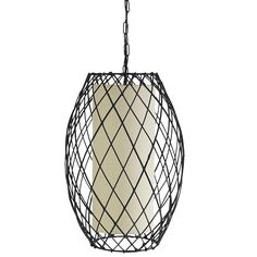 Bamboo took on a geometric challenge to form this modern pendant lamp