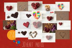 Valentines heart pack 25$ by IDA SHOP on Creative Market